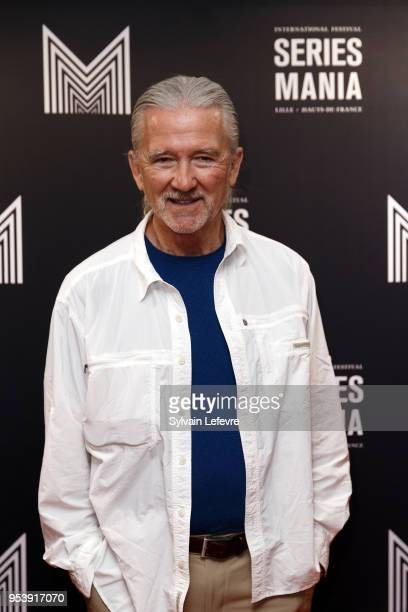 US actor Patrick Duffy attends photocall before QA as part of Series Mania Lille Hauts de France festival day 6 photocall on May 2 2018 in Lille...