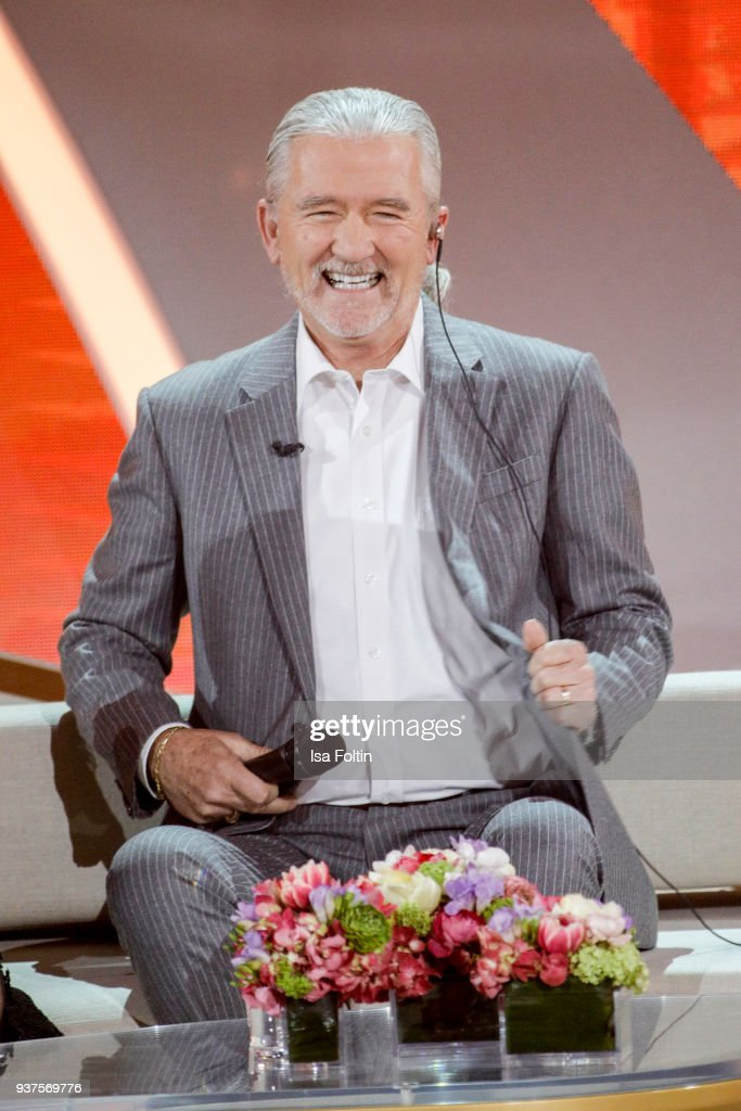 US actor Patrick Duffy during the tv show 'Willkommen bei Carmen Nebel' on March 24, 2018 in Hof, Germany. The show will be aired on March 24, 2018.