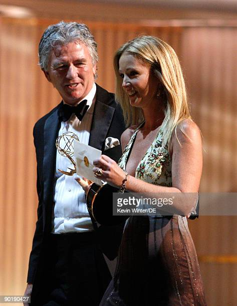 Actor Patrick Duffy escorts actress Susan Haskell winner of the Emmy for Lead Actress in a Drama Series offstage during the 36th Annual Daytime Emmy...