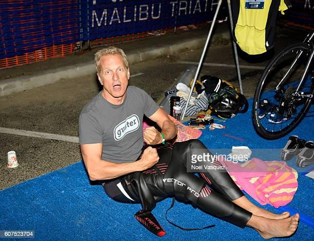 Actor Patrick Fabian participates in the Nautica Malibu Traithalon presented by Equinox at Zuma Beach on September 18 2016 in Malibu California