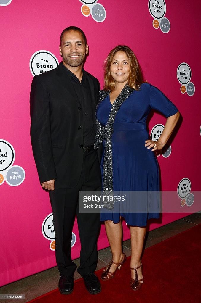 Actor Patrick Faucette and Maisa Faucette attend the opening night of 'An Iliad' at The Eli and Edythe Broad Stage on January 15, 2014 in Santa Monica, California.