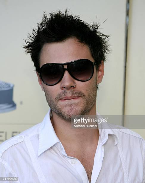 Actor Patrick Flueger arrives at the BAFTA/LAAcademy of Television Arts and Sciences Tea Party at the Century Hyatt on August 26 2006 in Century City...