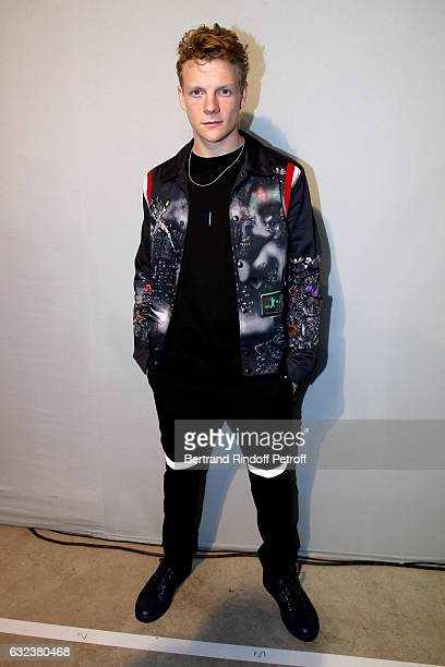Actor Patrick Gibson attends the Lanvin Menswear Fall/Winter 20172018 show as part of Paris Fashion Week on January 22 2017 in Paris France
