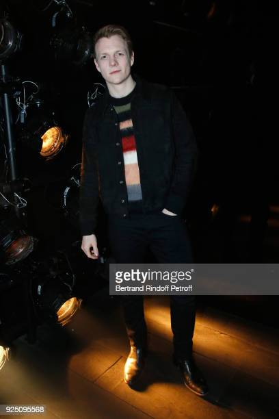 Actor Patrick Gibson attends the Saint Laurent show as part of the Paris Fashion Week Womenswear Fall/Winter 2018/2019 on February 27 2018 in Paris...
