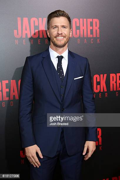Actor Patrick Heusinger attends the fan screening of the Paramount Pictures title 'Jack Reacher Never Go Back' on October 16 2016 at the AMC Elmwood...