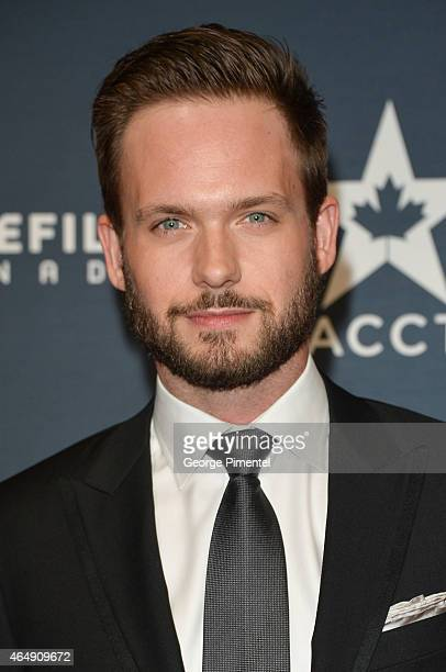 Actor Patrick J Adams arrives at the 2015 Canadian Screen Awards at the Four Seasons Centre for the Performing Arts on March 1 2015 in Toronto Canada