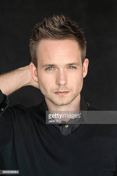 Actor Patrick J Adams is photographed for Emmy Magazine on December 16 2013 in Los Angeles California