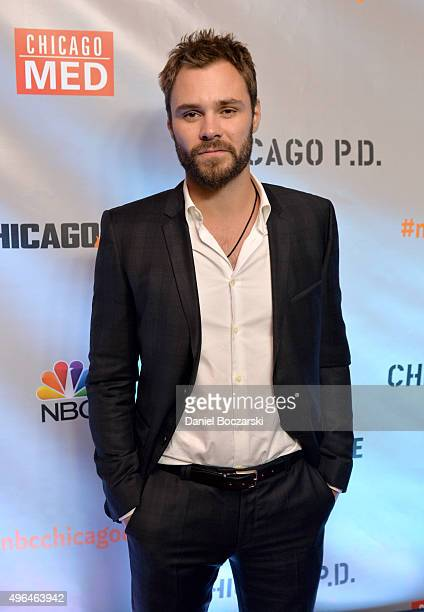 Actor Patrick John Flueger attends a premiere party for NBC's 'Chicago Fire' 'Chicago PD' and 'Chicago Med' at STK Chicago on November 9 2015 in...