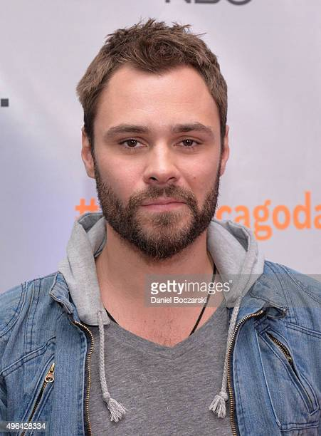 Actor Patrick John Flueger attends the press junket for NBC's 'Chicago Fire' 'Chicago PD' and 'Chicago Med' at Cinespace Chicago Film Studios on...
