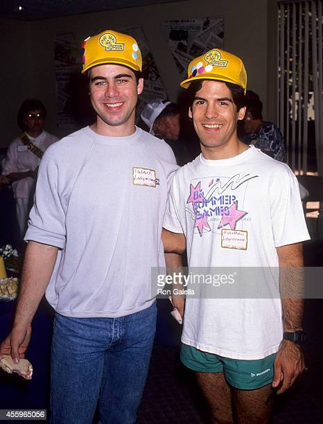 Actor Patrick Labyorteaux and actor Matthew Laborteaux attend the 20th Annual California Special Olympics Summer Games Closing Night Ceremonies on...