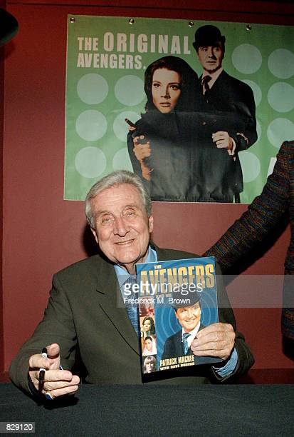 """Actor Patrick MacNee during booksigning of his memoirs """"Blind In One Ear and the Avengers and Me"""" at the Egyptian Theatre February15, 2002 in Los..."""
