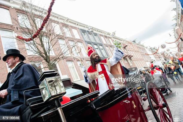 Actor Patrick Mathurin arrived like each year dressed as quotDe Nieuwe Sintquot on November 25th Amsterdam Netherlands described by Mathurin as a...