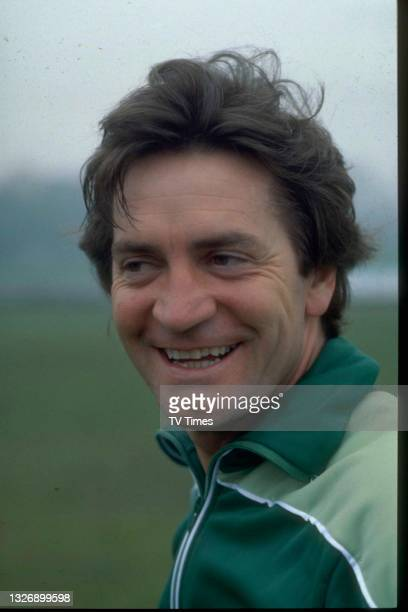 Actor Patrick Mower photographed during an appearance on celebrity game show Star Games, circa 1979.