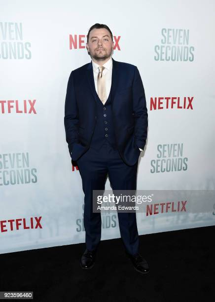 Actor Patrick Murney arrives at Netflix's 'Seven Seconds' Premiere at The Paley Center for Media on February 23 2018 in Beverly Hills California