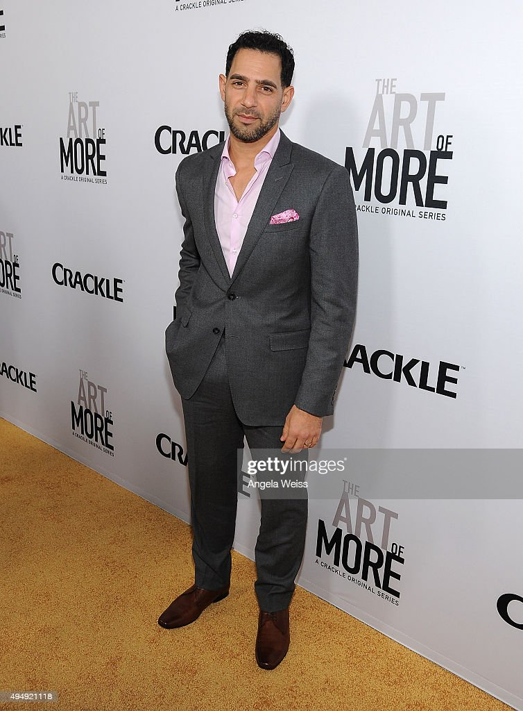 Actor Patrick Sabongui arrives at the premiere of Crackle's 'The Art of More' at Sony Pictures Studios on October 29, 2015 in Culver City, California.