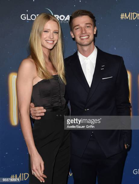 Actor Patrick Schwarzenegger and Abby Champion attend Global Road Entertainment's world premiere of 'Midnight Sun' at ArcLight Hollywood on March 15...