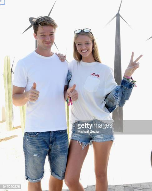 Actor Patrick Schwarzenegger and model Abby Champion attend the FHI Heat X Lucky Brands Desert Jam 2018 at the ARRIVE Hotel on April 14 2018 in Palm...