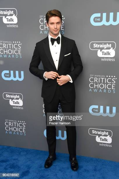 Actor Patrick Schwarzenegger attends The 23rd Annual Critics' Choice Awards at Barker Hangar on January 11 2018 in Santa Monica California