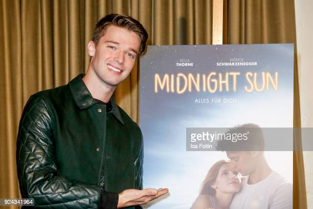 US actor Patrick Schwarzenegger during the 'Midnight Sun' Photo Call at Soho House on February 26 2018 in Berlin Germany