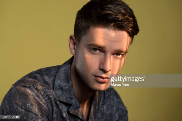 Actor Patrick Schwarzenegger is photographed for Los Angeles Times on March 15 2018 in Los Angeles California PUBLISHED IMAGE CREDIT MUST READ Marcus...
