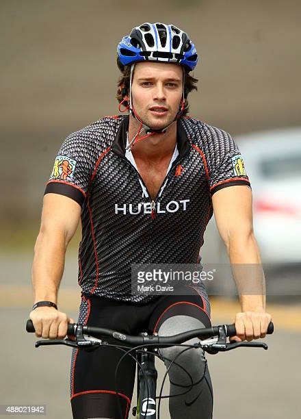 Actor Patrick Schwarzenegger participates in the Walk Run and Ride during Best Buddies Hearst Castle Challenge on September 12 2015 in Carmel...