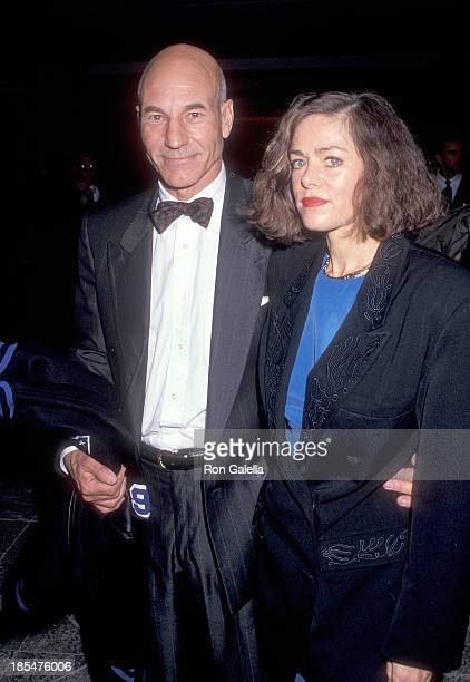 Actor Patrick Stewart and date Meredith Baer attend the Education First's First Vision Award Salute to Gene Roddenberry and 'The Star Trek' Series on...