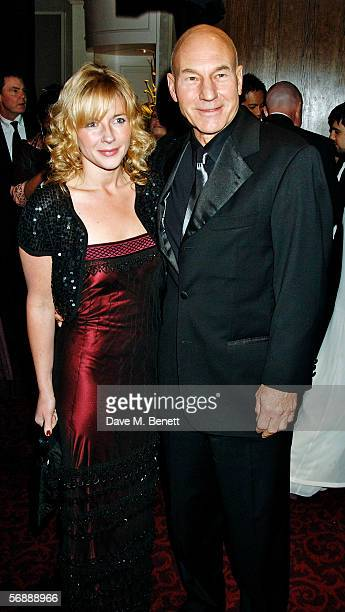 Actor Patrick Stewart and Lisa Dillon attend the Official BAFTA after show party following The Orange British Academy Film Awards at Grosvenor House...