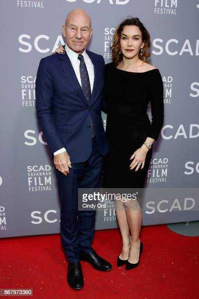 Actor Patrick Stewart and singer Sunny Ozell attend Red Carpet Gala Screening of 'Mudbound' at Trustees Theater during the 20th Anniversary SCAD...