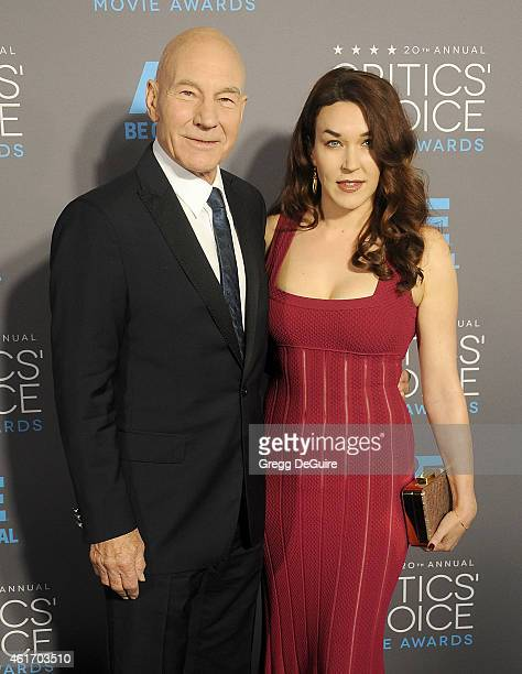 Actor Patrick Stewart and Sunny Ozell arrive at the 20th Annual Critics' Choice Movie Awards at Hollywood Palladium on January 15 2015 in Los Angeles...