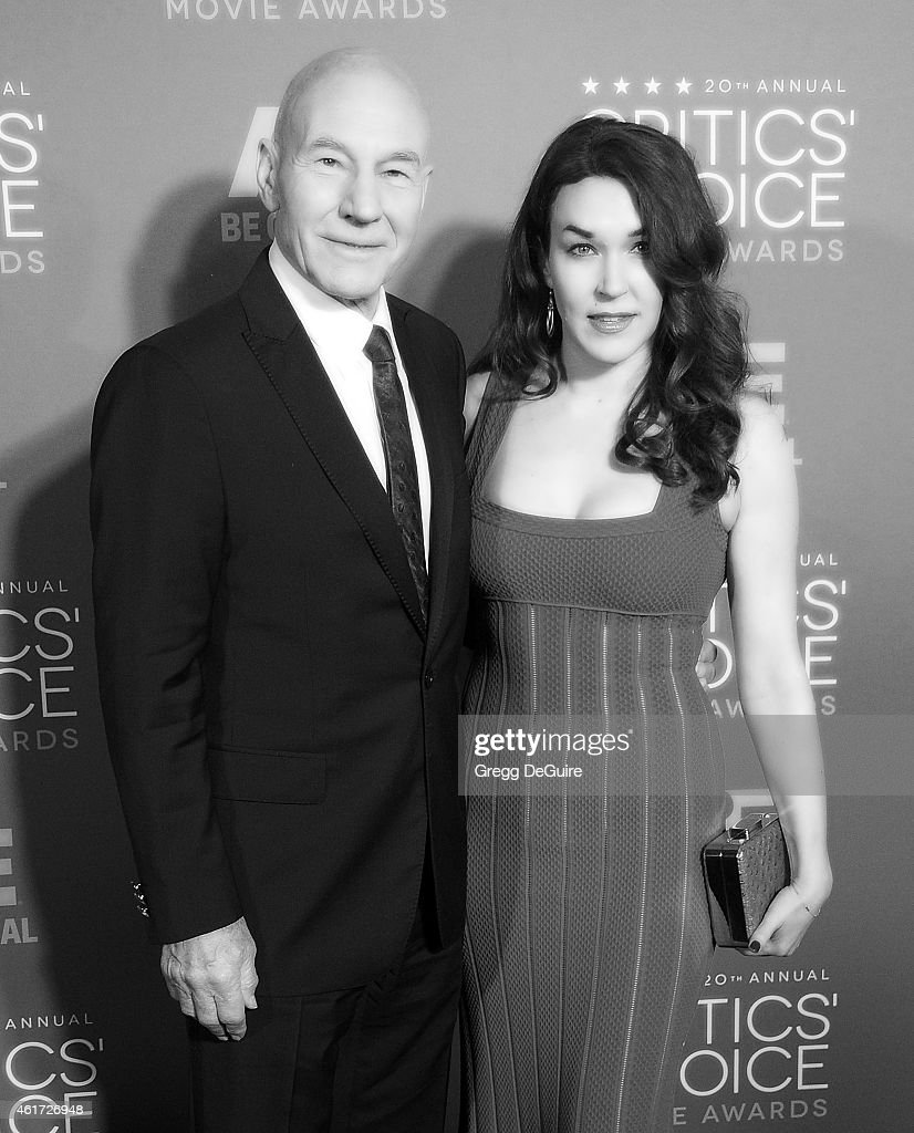Actor Patrick Stewart and Sunny Ozell arrive at the 20th Annual Critics' Choice Movie Awards at Hollywood Palladium on January 15, 2015 in Los Angeles, California.