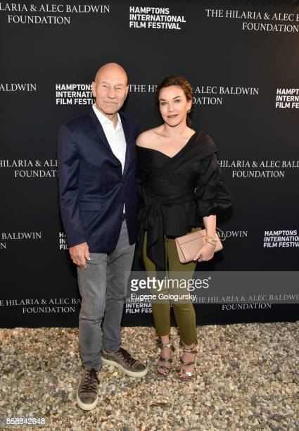 Actor Patrick Stewart and Sunny Ozell attend Lifetime Achievement Award Reception at Suna Residence during Hamptons International Film Festival 2017...