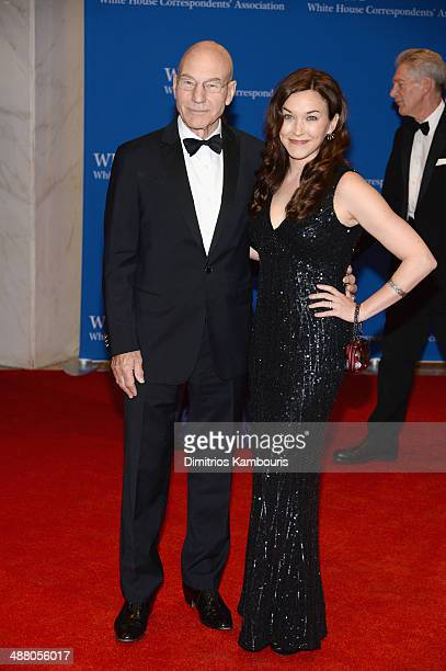 Actor Patrick Stewart and Sunny Ozell attend the 100th Annual White House Correspondents' Association Dinner at the Washington Hilton on May 3, 2014...