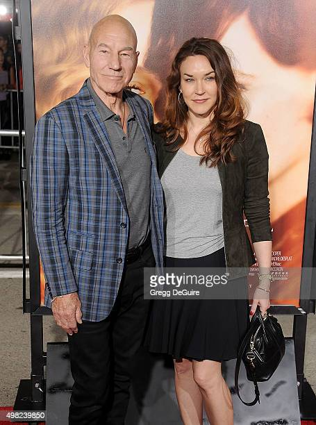 "Actor Patrick Stewart and wife Sunny Ozell arrive at the premiere of Focus Features' ""The Danish Girl"" at Westwood Village Theatre on November 21,..."