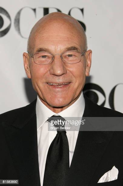 Actor Patrick Stewart arrives at the 62nd Annual Tony Awards held at Radio City Music Hall on June 15 2008 in New York City
