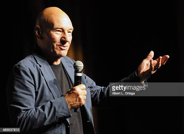 Actor Patrick Stewart at the 14th annual official Star Trek convention at the Rio Hotel Casino on August 9 2015 in Las Vegas Nevada
