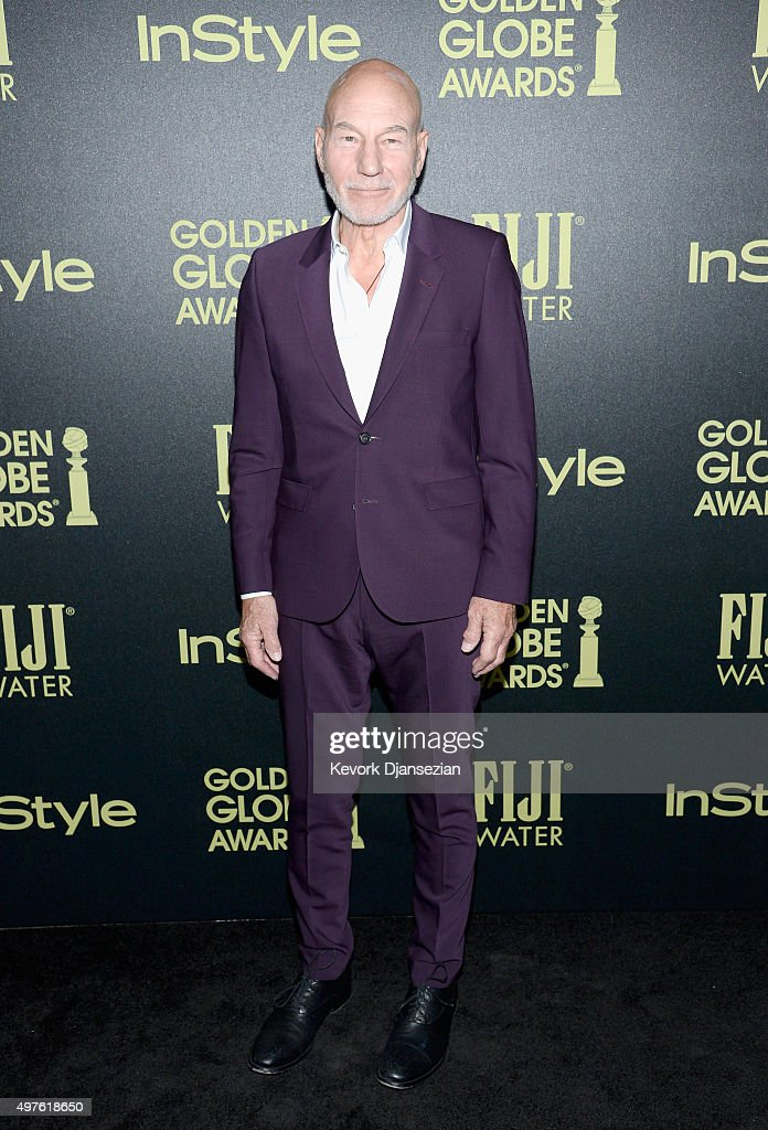 Actor Patrick Stewart attends Hollywood Foreign Press Association and InStyle Celebration of The 2016 Golden Globe Award Season at Ysabel on November 17, 2015 in West Hollywood, California.