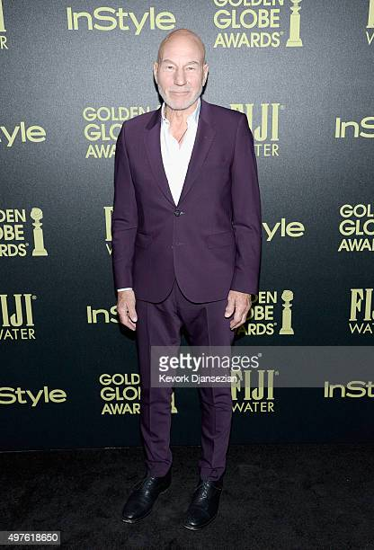 Actor Patrick Stewart attends Hollywood Foreign Press Association and InStyle Celebration of The 2016 Golden Globe Award Season at Ysabel on November...