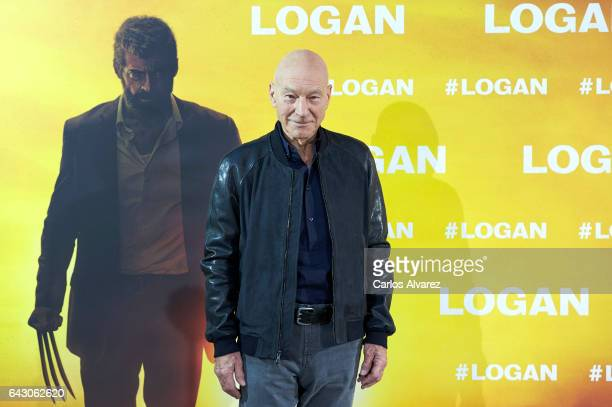 Actor Patrick Stewart attends 'Logan' photoall at the Vilamagna hotel on February 20 2017 in Madrid Spain