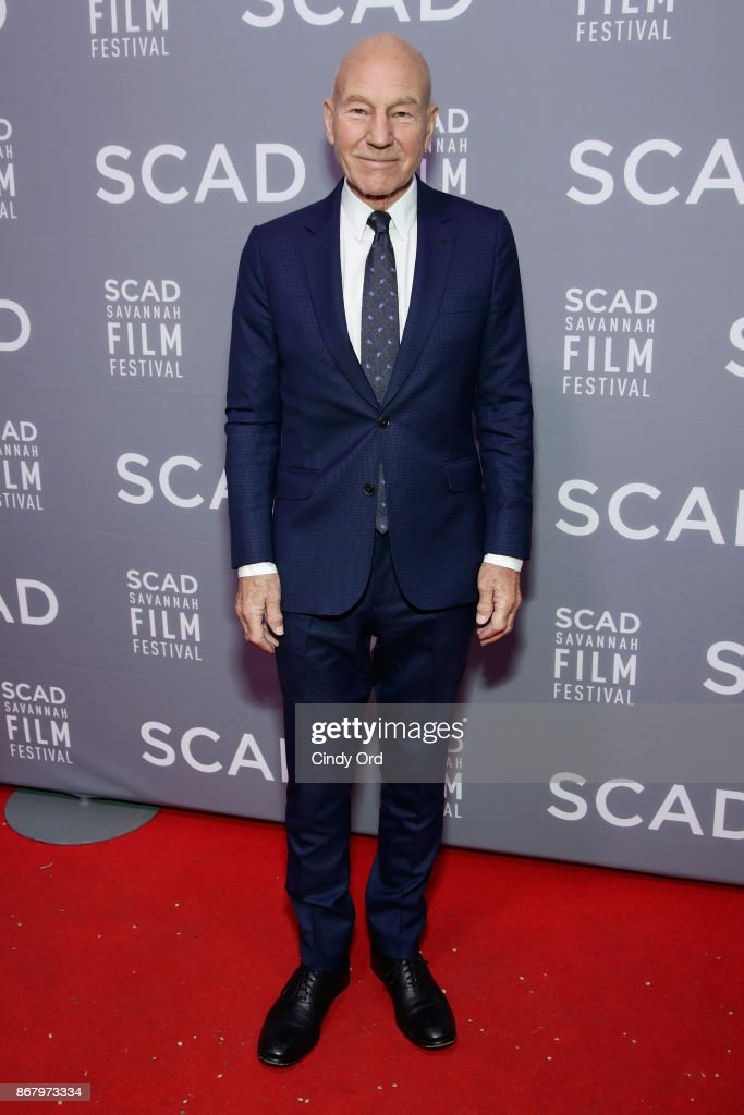 Actor Patrick Stewart attends Red Carpet & Gala Screening of 'Mudbound' at Trustees Theater during the 20th Anniversary SCAD Savannah Film Festival on October 29, 2017 in Savannah, Georgia.
