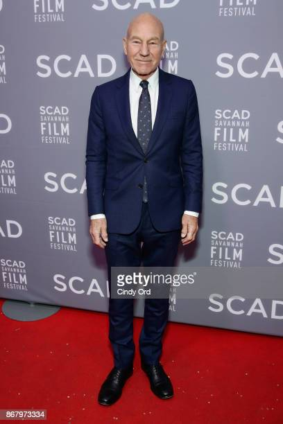 Actor Patrick Stewart attends Red Carpet & Gala Screening of 'Mudbound' at Trustees Theater during the 20th Anniversary SCAD Savannah Film Festival...