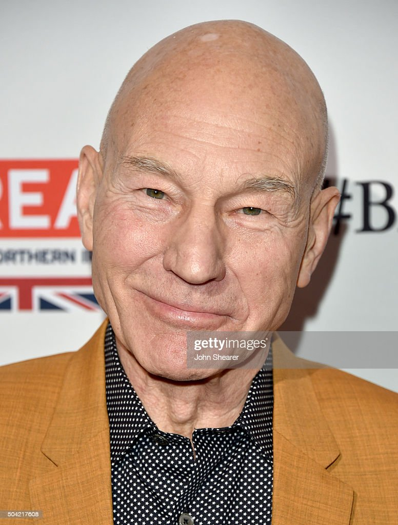 Actor Patrick Stewart attends the BAFTA Awards Season Tea Party at Four Seasons Hotel Los Angeles at Beverly Hills on January 9, 2016 in Los Angeles, California.