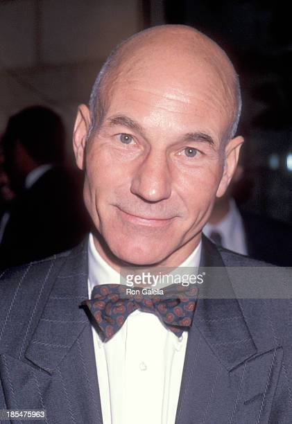 Actor Patrick Stewart attends the Education First's First Vision Award Salute to Gene Roddenberry and 'The Star Trek' Series on February 10 1992 at...