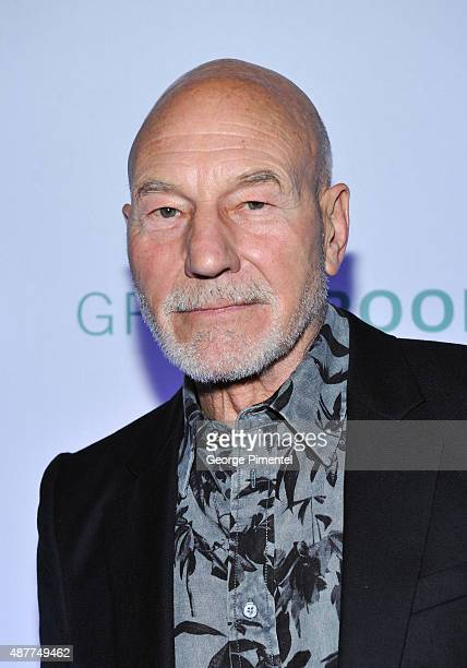 Actor Patrick Stewart attends the 'Green Room' TIFF party hosted by Metro and HELLO Canada at Byblos on September 10 2015 in Toronto Canada
