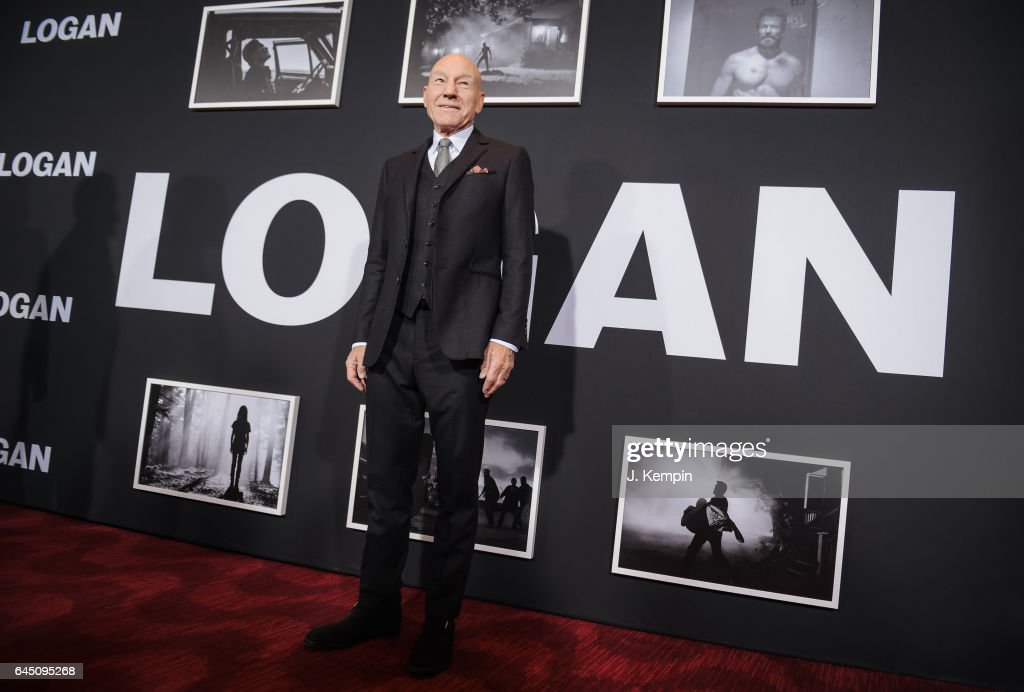 Actor Patrick Stewart attends the 'Logan' New York special screening at Rose Theater, Jazz at Lincoln Center on February 24, 2017 in New York City.