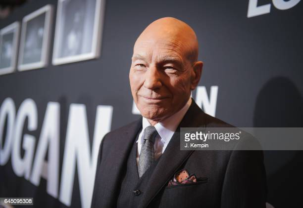 Actor Patrick Stewart attends the 'Logan' New York special screening at Rose Theater Jazz at Lincoln Center on February 24 2017 in New York City