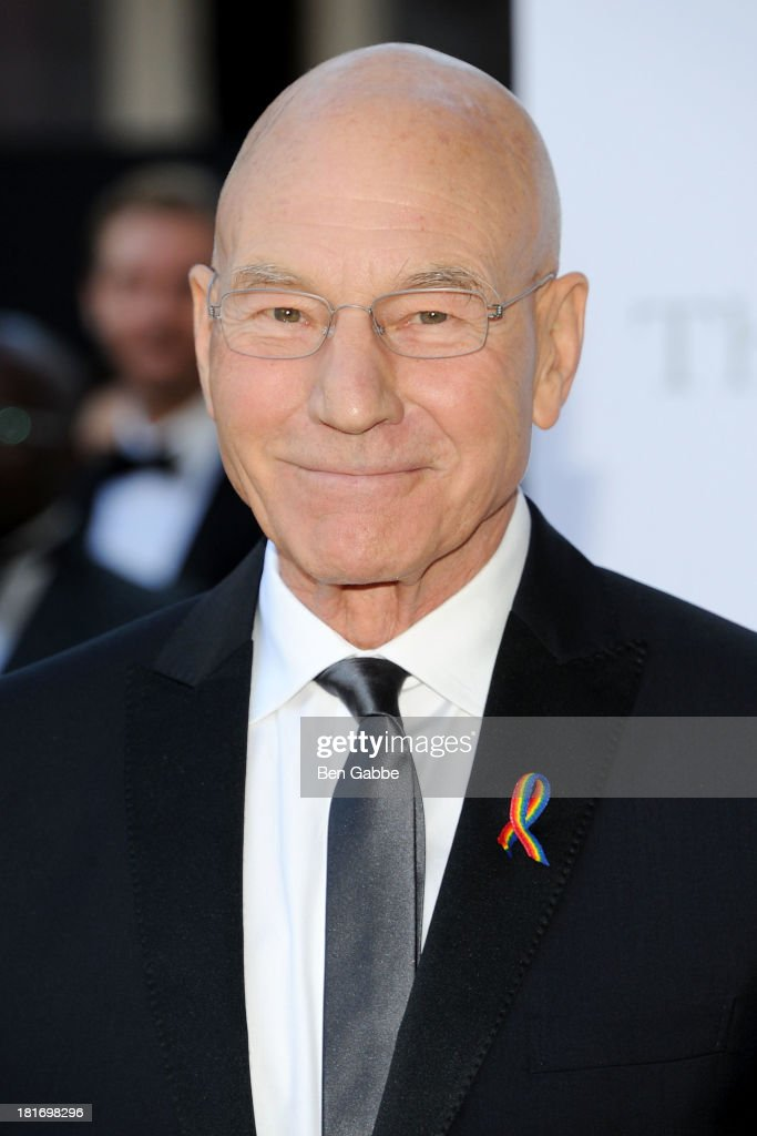 Actor Patrick Stewart attends the Metropolitan Opera season opening production of 'Eugene Onegin' at The Metropolitan Opera House on September 23, 2013 in New York City.