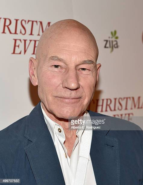 Actor Patrick Stewart attends the premiere of 'Christmas Eve' at ArcLight Hollywood on December 2 2015 in Hollywood California