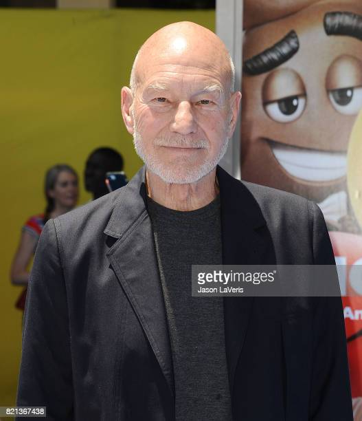 Actor Patrick Stewart attends the premiere of 'The Emoji Movie' at Regency Village Theatre on July 23 2017 in Westwood California