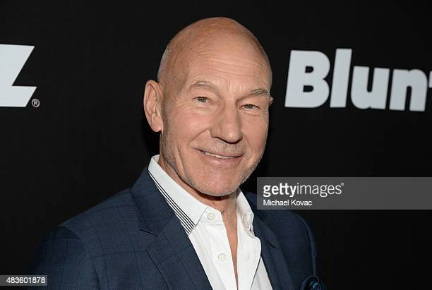 Actor Patrick Stewart attends the STARZ' 'Blunt Talk' series premiere on August 10 2015 in Los Angeles California