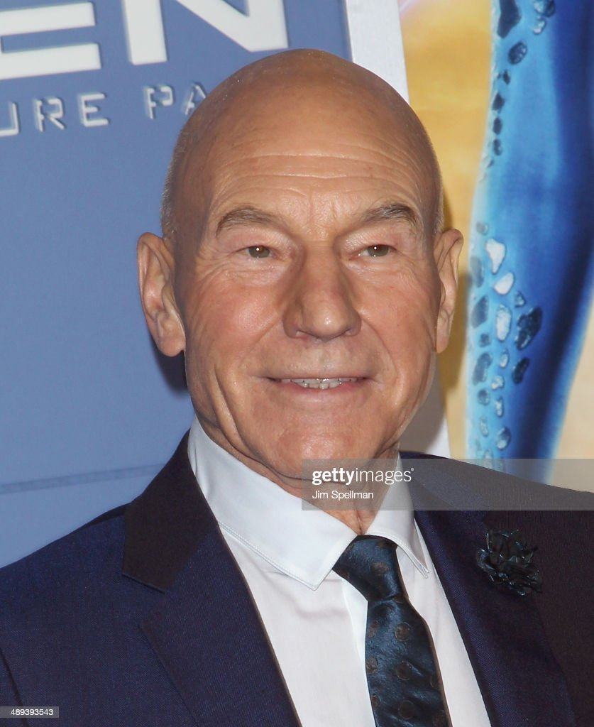 Actor Patrick Stewart attends the 'X-Men: Days Of Future Past' World Premiere - Outside Arrivals at Jacob Javits Center on May 10, 2014 in New York City.